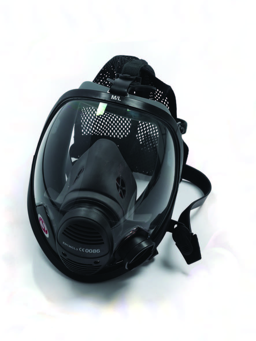 POSITIVE PRESSURE FACEMASK FOR SCBA